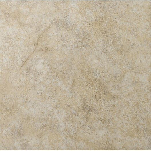 "Emser Tile Toledo 17"" x 17"" Glazed Ceramic Tile in Beige"