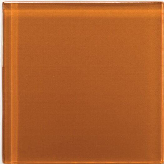 "Emser Tile Lucente 4"" x 4"" Glossy Field Tile in Cinnamon"