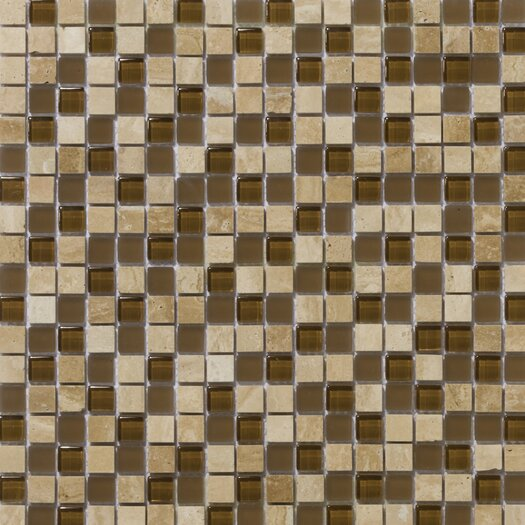Emser Tile Lucente Stone and Glass Mosaic Blend in Tromba