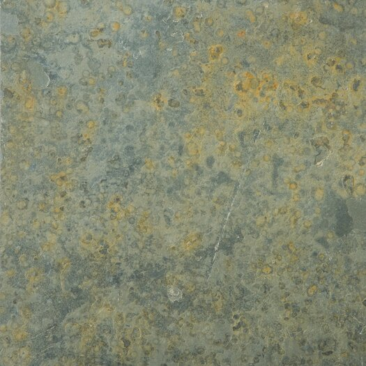 "Emser Tile Natural Stone 16"" x 16"" Slate Tile in Brazilian Multicolor"