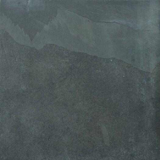 "Emser Tile Natural Stone 16"" x 16"" Calibrated Slate Tile in Brazilian Black"
