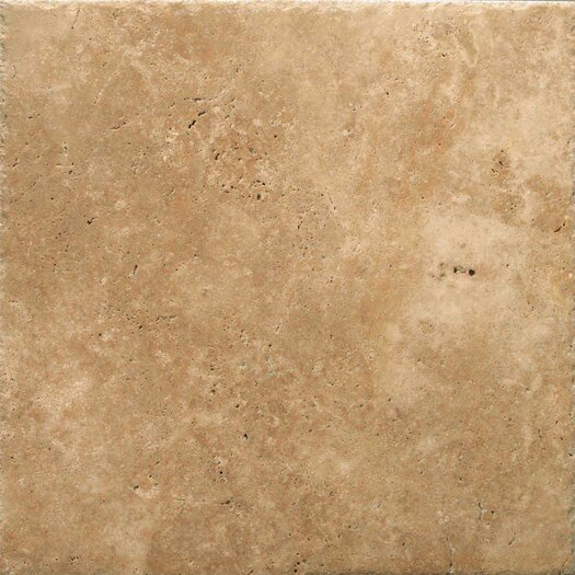 "Emser Tile Natural Stone 16"" x 16"" Chiseled Travertine Field Tile in Umbia Bruno"