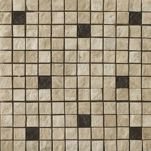 Emser Tile Natural Stone Split Face Travertine Tumbled/Unpolished Mosaic in Element Beige