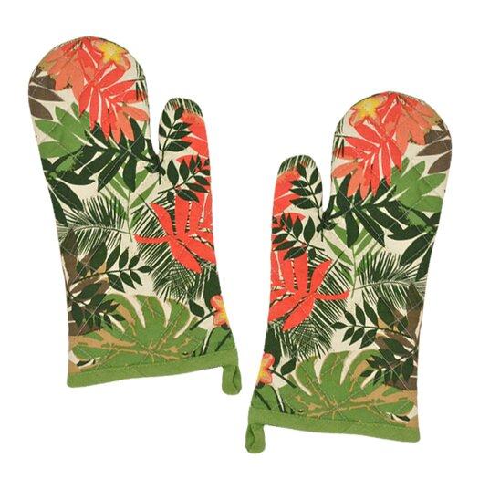 Design Imports Palm Paradise Print Oven Mitt