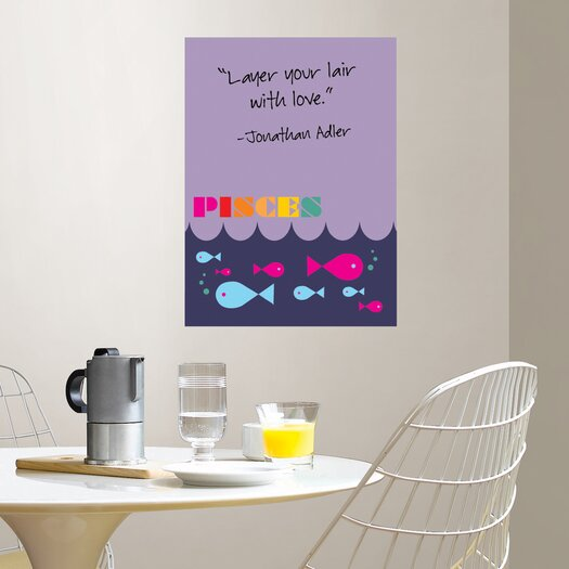 WallPops! Jonathan Adler Dry Erase Pisces Board Wall Decal