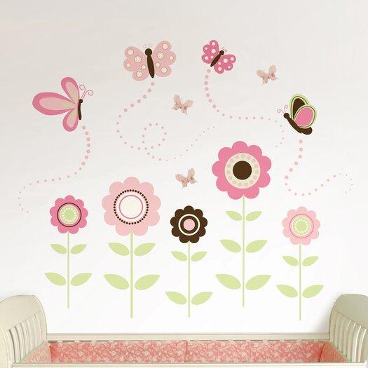 WallPops! Art Kit Butterfly Garden Wall Decal