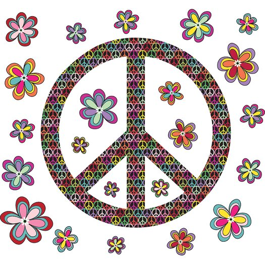 WallPops! Sheets Peace Wall Decal