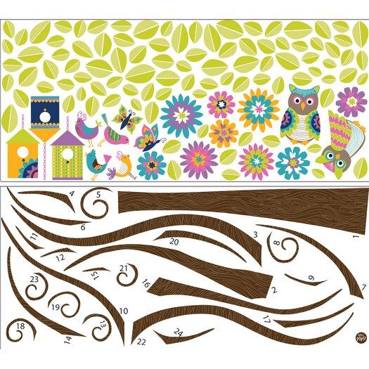 WallPops! Art Kit Owl Tree Wall Decal
