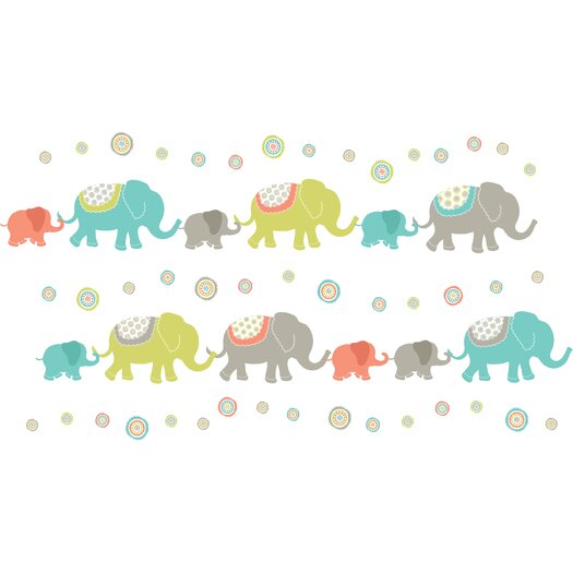 WallPops! Art Kit Tag Along Elephants Wall Decal