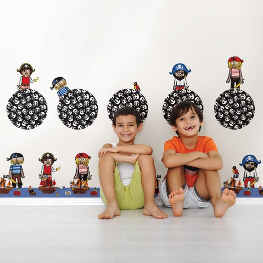 WallPops! Kids Argh Pirates Wall Decal