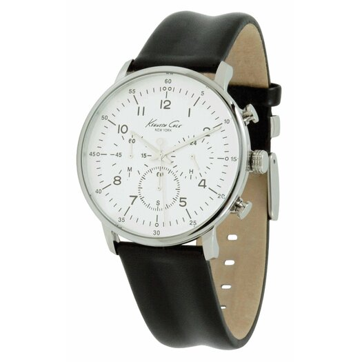 Kenneth Cole Men's Straps Dress Sport Watch in Silver White and Black