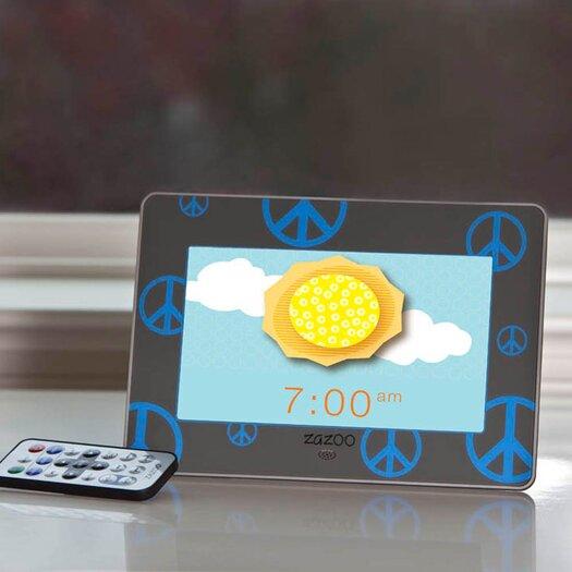 Zazoo Kids Photo Clock in Blue Peace