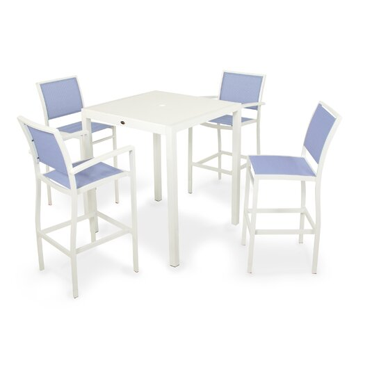 POLYWOOD® Bayline™ 7 Piece Bar Dining Set