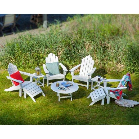 POLYWOOD® Long Island 9 Piece Conversation Adirondack  Seating Group