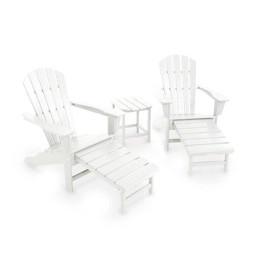 POLYWOOD® South Beach Ultimate 3 Piece Adirondack Seating Group