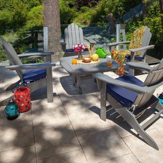POLYWOOD® Long Island 5 Piece Conversation Adirondack Seating Group