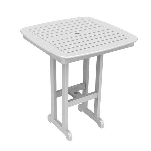 POLYWOOD® Nautical Outdoor Bar Table