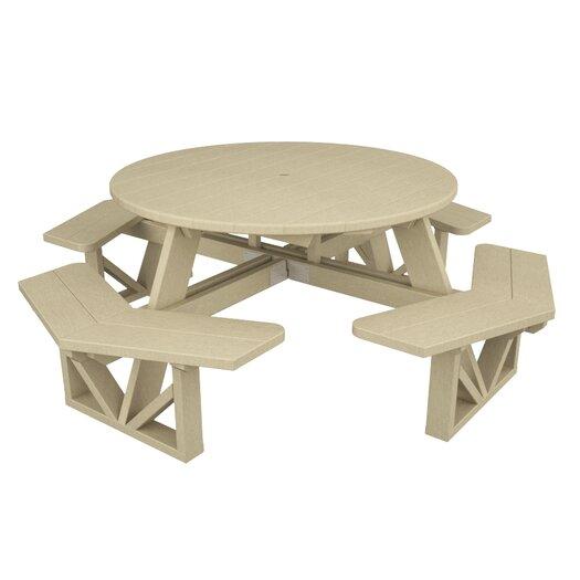 POLYWOOD® Park Octagon Picnic Dining Set