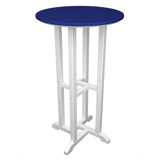 POLYWOOD® Contempo Round Bar Table