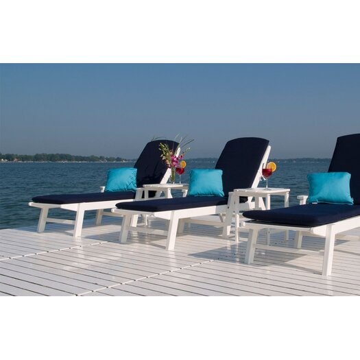 POLYWOOD® Nautical Wheel Chaise Lounge with Arms