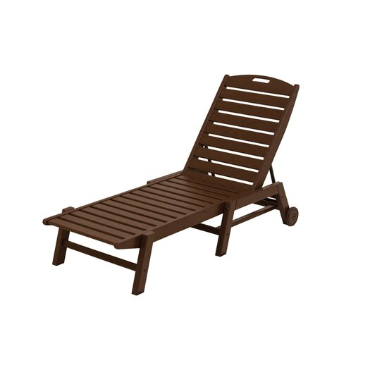POLYWOOD® Nautical Wheel Chaise Lounge