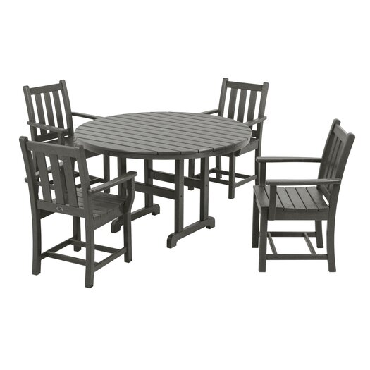 POLYWOOD® Traditional Garden 5 Piece Dining Set