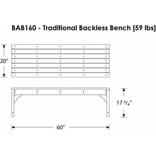 POLYWOOD® Traditional Plastic Picnic Bench