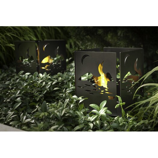 Decorpro Four Series Cottage Steel Bio Ethanol Table Top Fireplace