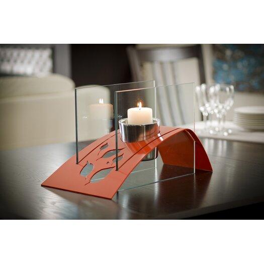 Decorpro Twilight Steel Bio Ethanol Table Top Fireplace