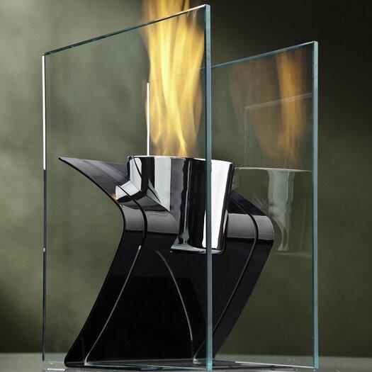 Decorpro Zed Steel Bio Ethanol Table Top Fireplace