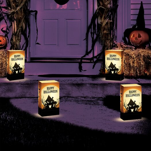 Luminarias Haunted House 12 Count Battery Operated Luminary Kit