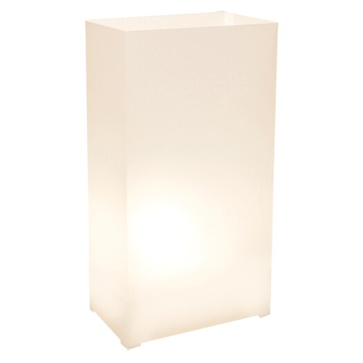 "Luminarias Plastic 10.5"" H Table Lamp with Drum Shade"