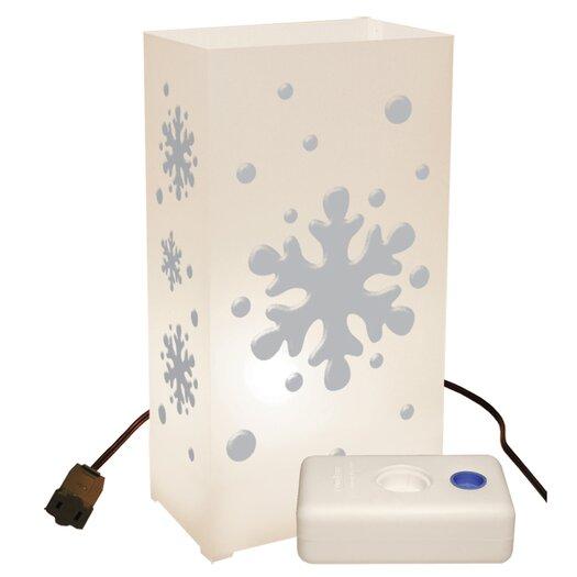 Luminarias Snowflake 10 Count Electric Luminaria Kit with Lumabases