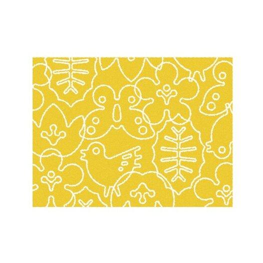 Season White/Canary Yellow Area Rug