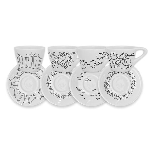 notNeutral Coffee of the Gods Cup and Saucer Set