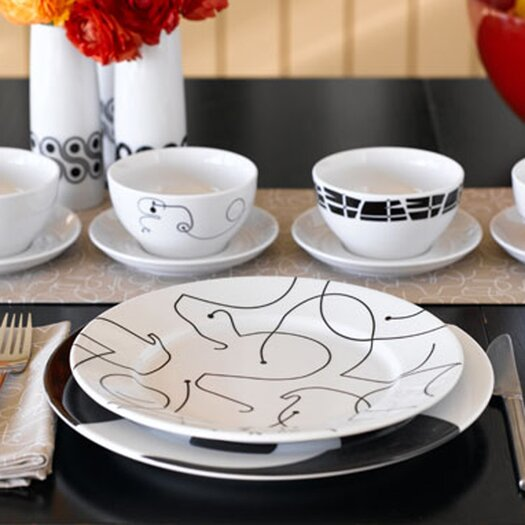 notNeutral Letters 20 Piece Dinnerware Set