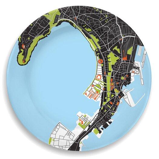 "notNeutral City On A Plate 12"" Mumbai (Bombay) Dinner Plate"