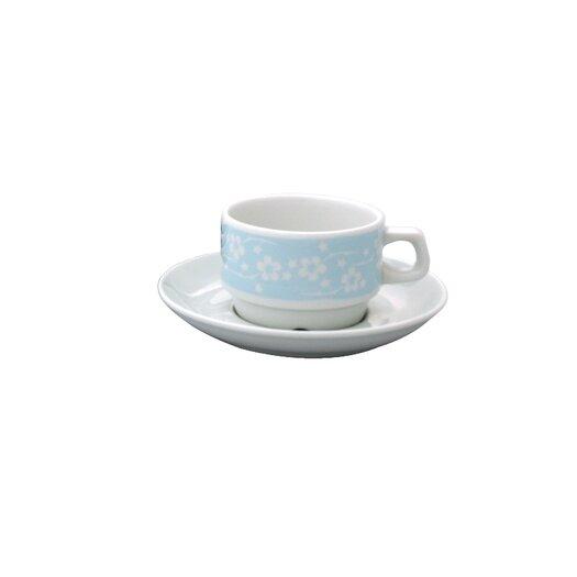 notNeutral Blue Flora Cup & Saucer Set