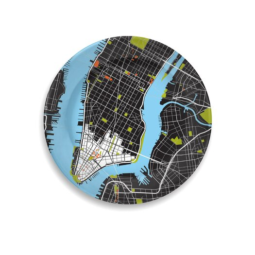 "notNeutral City on a Plate 12"" New York City Dinner Plate"