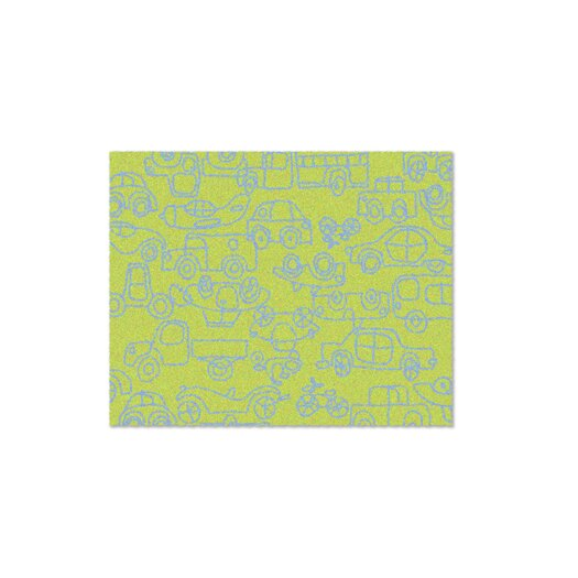 Just for Kids Lotus Transport Green/Ozone Blue Area Rug