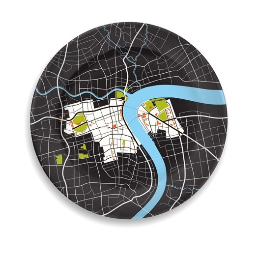 "notNeutral City on a Plate 12"" Shanghai Dinner Plate"