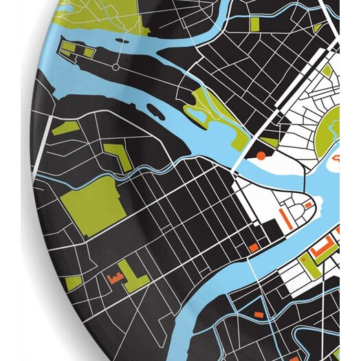 """notNeutral City on a Plate 12"""" St. Petersburg Dinner Plate"""