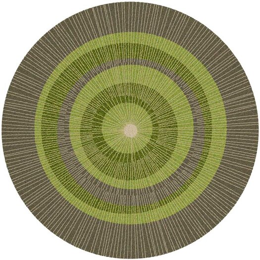 notNeutral Eccentric Green Area Rug