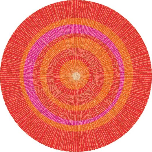 notNeutral Eccentric Red Area Rug