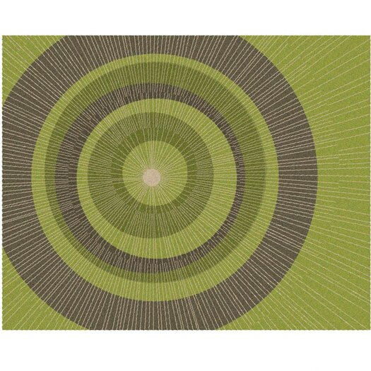 notNeutral Eccentric Green Area Rug