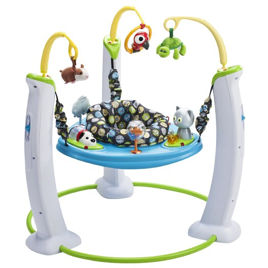 Evenflo ExerSaucer My First Pet Jump and Learn Stationary Jumper