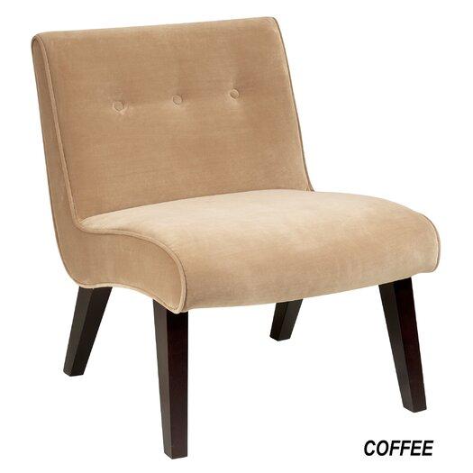 Ave Six Curves Valencia Velvet Slipper Chair