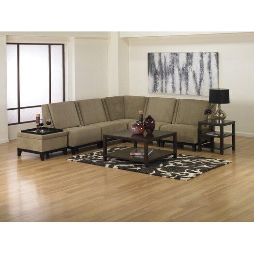 Ave Six Merge Modular Fabric Slipper Chair