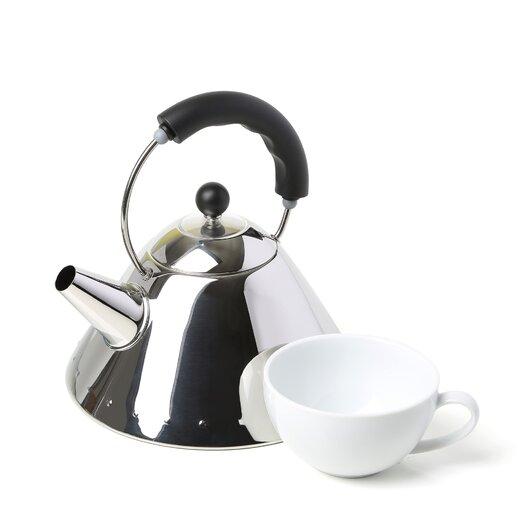 Alessi 2-qt. Signature Whistle Tea Kettle