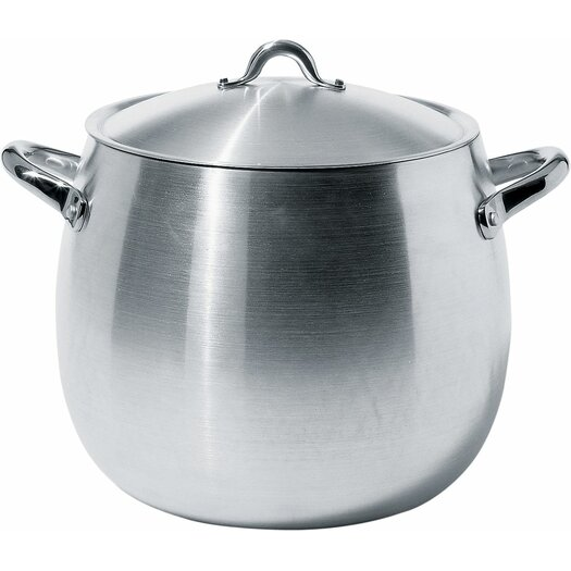Alessi Mami 15.31-qt. Stock Pot with Lid by Stefano Giovannoni